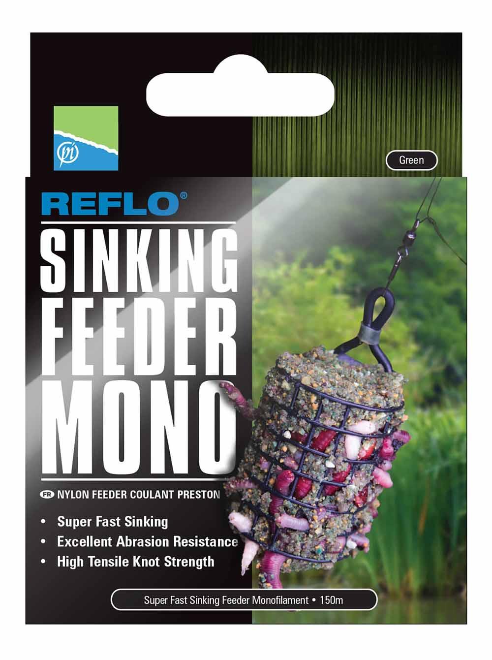 Preston Reflo Sinking Feeder Mono 150m 0,26mm Schnur
